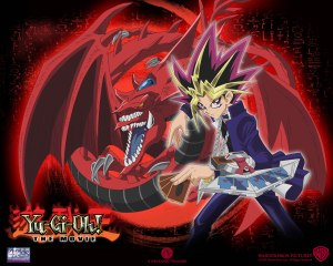 Yami Yugi & his 'God card' monster: Slifer the Sky Dragon